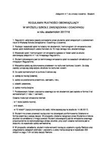 REGULAMIN_PLATNOŚCI_Załącznik nr 1 do umowy Uczelnia