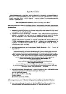 Stypendium socjalne – informacje